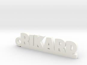 RIKARD Keychain Lucky in White Processed Versatile Plastic