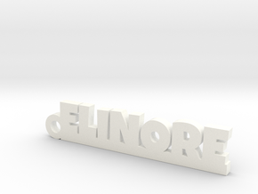 ELINORE Keychain Lucky in White Processed Versatile Plastic