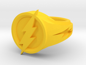 Flash Ring in Yellow Processed Versatile Plastic