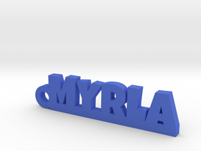 MYRLA Keychain Lucky in Blue Processed Versatile Plastic
