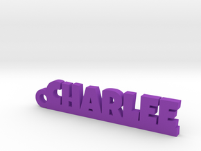 CHARLEE Keychain Lucky in Purple Processed Versatile Plastic