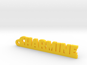 CHARMINE Keychain Lucky in Yellow Processed Versatile Plastic