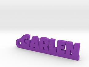 GARLEN Keychain Lucky in Purple Processed Versatile Plastic