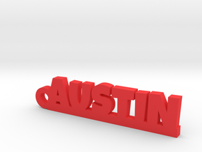 AUSTIN Keychain Lucky in Red Processed Versatile Plastic