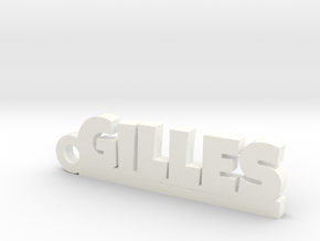 GILLES Keychain Lucky in White Strong & Flexible Polished