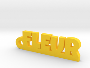FLEUR Keychain Lucky in Yellow Processed Versatile Plastic