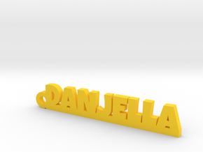 DANJELLA Keychain Lucky in Yellow Processed Versatile Plastic