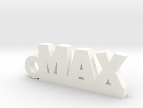 MAX Keychain Lucky in White Processed Versatile Plastic