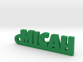 MICAH Keychain Lucky in Green Processed Versatile Plastic