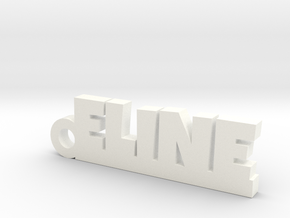 ELINE Keychain Lucky in White Processed Versatile Plastic
