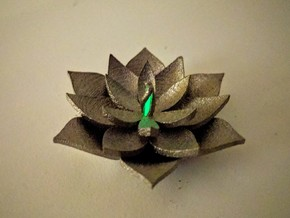 Full Lotus in Polished Nickel Steel