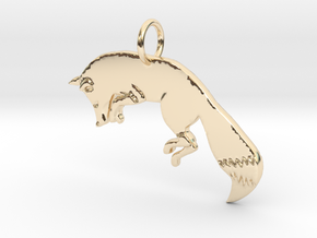 The fox in 14k Gold Plated Brass