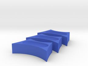 Bean fidget spinner insert in Blue Processed Versatile Plastic