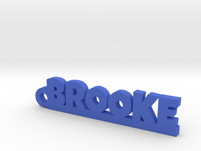 BROOKE Keychain Lucky in Blue Strong & Flexible Polished