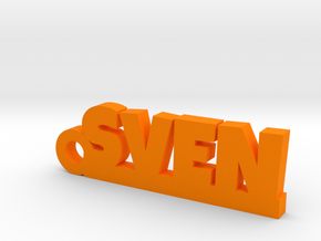 SVEN Keychain Lucky in Orange Strong & Flexible Polished