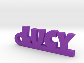 LUCY Keychain Lucky in Purple Processed Versatile Plastic