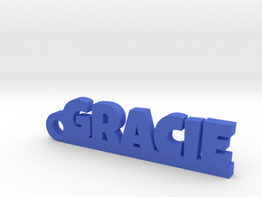 GRACIE Keychain Lucky in Blue Processed Versatile Plastic