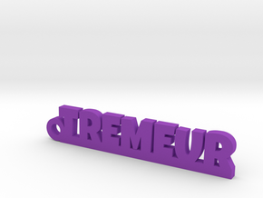 TREMEUR Keychain Lucky in Purple Strong & Flexible Polished