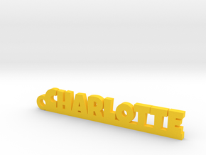 CHARLOTTE Keychain Lucky in Yellow Strong & Flexible Polished