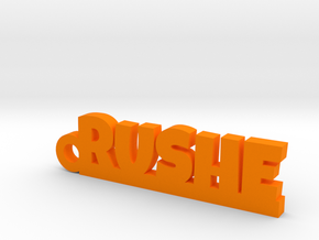 RUSHE Keychain Lucky in Orange Strong & Flexible Polished