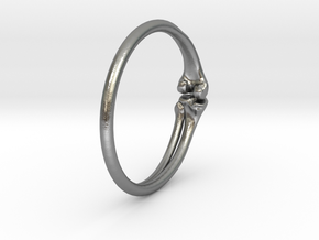 Leg Bones Ring Size 6 in Natural Silver