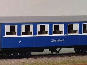 LBPH (H0e) - Payerbach Personenwagen BW11-14 in Frosted Ultra Detail