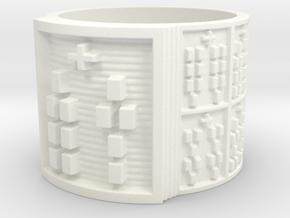 OTURABARA Ring Size 14 in White Processed Versatile Plastic