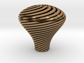 Pear Twisted Knob 3 1 in Natural Brass