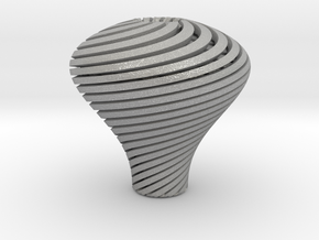 Pear Twisted Knob 3 1 in Aluminum