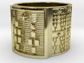 IRETEUNTEDI Ring Size 13.5 in 18k Gold Plated