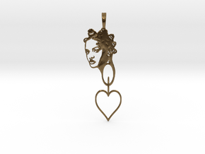 RIHANNA PENDANT in Interlocking Raw Bronze
