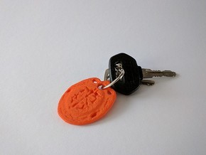 Key-Chain Thought in Orange Processed Versatile Plastic