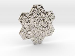 Hexagonal Spirals - Small Miniature in Rhodium Plated Brass
