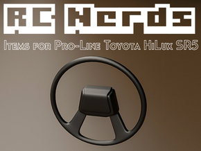 RCN010 steering wheel for Pro-Line Toyota SR5  in White Natural Versatile Plastic