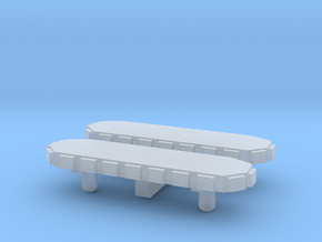 Light Bar - Round Back 1-87 HO Scale (2 Pack) in Smooth Fine Detail Plastic