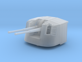 """1/350 4.7"""" MKXII CPXIX Twin Mount x4 in Smoothest Fine Detail Plastic"""