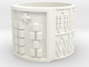 OSHEYEKUN Ring Size 13.5 in White Processed Versatile Plastic