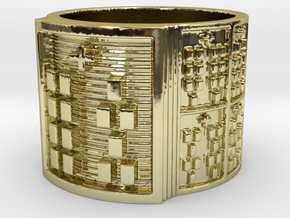 OSHEYEKUN Ring Size 13.5 in 18k Gold Plated Brass