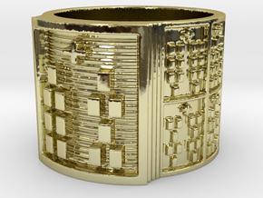 OSHEBARA Ring Size 13.5 in 18k Gold Plated Brass