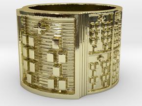 OSHEKANA Ring Size 14 in 18k Gold Plated Brass