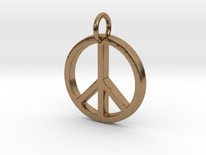 Peace Symbol in Natural Brass
