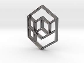 Geometrical cube in Polished Nickel Steel