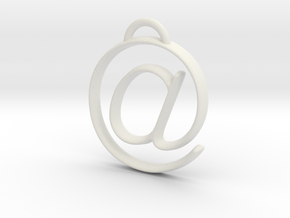 at symbol in White Natural Versatile Plastic