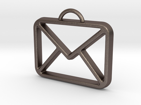 You've Got Mail in Polished Bronzed Silver Steel