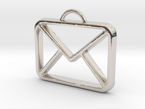 You've Got Mail in Rhodium Plated Brass