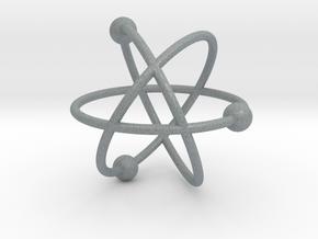 Model of the atom in Polished Metallic Plastic