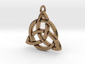 Triquetra in Natural Brass