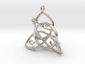 Budding Trinity Pendant in Platinum