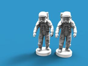 Star wars withe soldier x2 (base) in Smooth Fine Detail Plastic