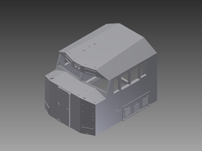 N Scale SD60E Cab in Smooth Fine Detail Plastic